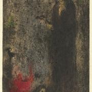 Bohuslav Reynek, Abel, 1955, lept a suchá jehla s monotypem
