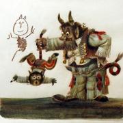 Karel Franta, Kdyby čert na koze jezdil - české pohádky a verše o čertech, nedatováno, kombinovaná technika