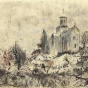 Bohuslav Reynek, Corenc u Grenoblu II, 1930, suchý pastel