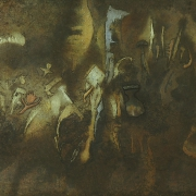 Jaroslav Šerých, Spočinutí, 2001, kombinovaná technika na plátně