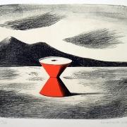 Kamil Lhoták, Stroj pouště, 1968, barevná litografie