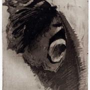 Ladislav Čepelák, Motýl - Paví oko, 1987, akvatinta