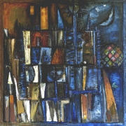 Josef Saska, Nocturno, 1996, olej na plátně