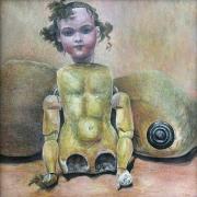 Miroslava Zychová, Tělesnost - Vanitas, 2000, tempera na kartonu