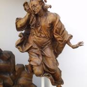 Ignác Rohrbach, Jan Evangelista, kolem 1735, nepolychromované lipové dřevo