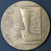 Vratislav Housa, Jan Zrzavý, 1990, bronzový reliéf - reverz