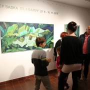 Vernisáž výstavy Josefa Sasky SÍLA BARVY_9