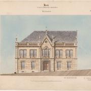2 František Schmoranz, Návrh ku budově městského úřadu, 1866