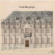 3 Jan Martin, Návrh  fasády nové radnice, 60. léta 19. století