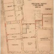 6 Dušab Jurkovič, Návrh vnitřního uspořádání radnice - patro