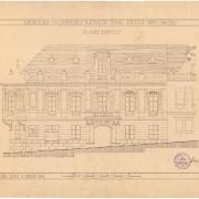 8 Josef Šupich, Návrh na přestavbu radnice - pohled ze Svatovojtěšské ulice, 1912