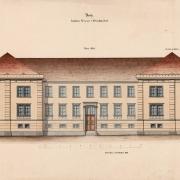 2 František Schmoranz, Nerealizovaný návrh na rozšíření nemocnice, 1866