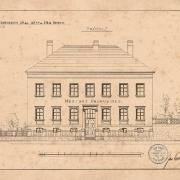 3 Jan Smrť, Zakreslení fasády a situace, 90. léta 19. století