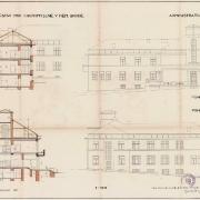 Vladimír Wallenfels, Zemský ústav pro choromyslé, administrační budova, 1919-1920