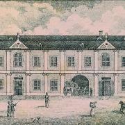 Dobová rytina domu u Dobrovských