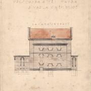 3b Luděk Mandaus, Projekt na přestavbu divadla - severní fasáda, 1925