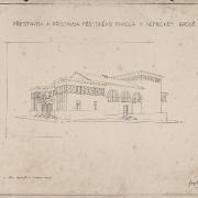 4 František Liška, Přestavba a přístavba divadla, 1929