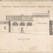 4a František Liška, Projekt na přestavbu a přístavbu divadla, 1929