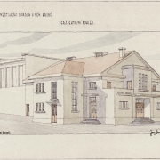 6 Prokop Šupich, Rekonstrukce divadla - perspektivní pohled, 1934