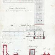 1. Ernest Teige, Pivovar Právovárečného měšťanstva, fasáda, řez a vazba, 1834