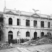 01. Sokolovna v průběhu výstavby v roce 1905
