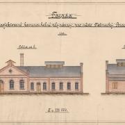 1 František Manoschek, Fasáda projektované kamenouhelné plynárny, 1908