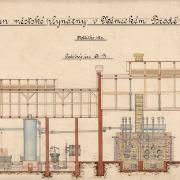 2 František Manoschek, Plán městské plynárny v Německém Brodě, 1904