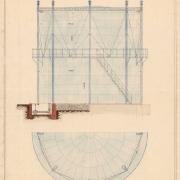 3 Franišek Manoschek, Plynojem se železnou nádržkou pro 600 m3 obsahu, 1908