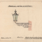 4 František Manoschek, Nástěnná podpěra se svítilnou, 1908