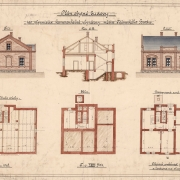 6 František Manoschek, Návrh obytné budovy pro plynmistra kamenouhelné plynárny města Německého Brodu, 1908