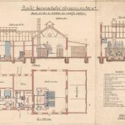 7 František Manoschek, Projekt kamenouhelné plynárny pro 800 m3 denní výroby se zřetelem na pozdější zvětšení, 1908