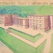 Bohumil Hübschmann, Měšťanské školy v Německém Brodě, 1930,  SOkA Havlíčkův Brod