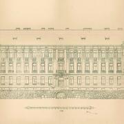 Ludvík Labler, Plán budovy gymnázia, fasáda, 1905, SOkA Havlíčkův Brod