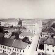 Prostor mezi děkanstvím a klášterem po výstavbě gymnázia, SOkA Havlíčkův Brod