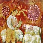 Květná neděle: dne ilustrace od Julie Svobodové, pastelová kresba ke knize Pohádky z trávy