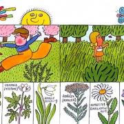 Velikonoční pondělí: ilustrace Velikonoce od Ivo Šedivého z knihy Oldřicha Černého: Obrázková knížka o Československu, vydalo nakl. Albatros v Praze roku 1987