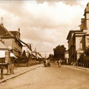 Pohled do ulice Dobrovského, 40. léta 20. století