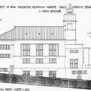 Prokop Šupich, Prováděcí plány sborové budovy náboženské obce Církve československé, pohled od západu, 1927