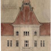 Alternativní návrh věže na nároží domu, SOkA Havlíčkův Brod