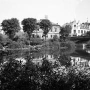 Foto přes řeku Sázavu v průběhu výstavby 1911, SOkA Havlíčkův Brod