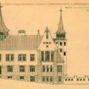 Neznámý autor, Návrh na novou architektonickou úpravu okresního domu v Něm. Brodě - varianta A, 1910 SOkA Havlíčkův Brod