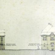 Neznámý autor, Návrh okresního domu, 1910, SOkA Havlíčkův Brod
