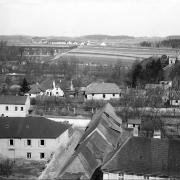 Část Horního předměstí před výstavbou školních budov, před 1907, zcela vpravo Štáflova bašta, SOkA Havlíčkův Brod