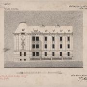 Karel Ješina, Vítězný návrh na budovu obecné školy, 1907, SOkA Havlíčkův Brod