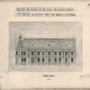 Karel Pokorný, Soutěžní návrh na budovu obecné školy, 1907, SOkA Havlíčkův Brod