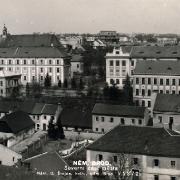Pohled do ulice Školské a Gymnazijní, 1928