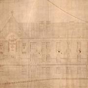 Soutěžní projekt neznámého architekta na budovu obecné školy, 1907, SOkA Havlíčkův Brod