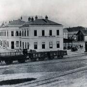 Výpravní budova s technickým zázemím stanice, 1872